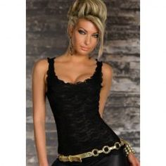 Twins Girl new 2016 women clubwear Tops Sexy Exquisite Lace Tank Top Black/Rosy Black Lace Tank Top, Black Tank Tops, Twins Girls, Tight Tank Top, Clubwear Tops, Lace Vest, Sexy Blouse, Trendy Clothes For Women, Stylish Clothes