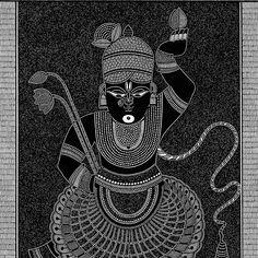 Krishna Painting, Krishna Art, Lord Krishna, Pichwai Paintings, Indian Art Paintings, Abstract Paintings, Madhubani Art, Madhubani Painting, Cool Art Drawings