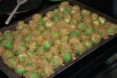 Cornmeal masala brussel sprouts