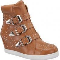 Wedge Sneaker Shoes Tan