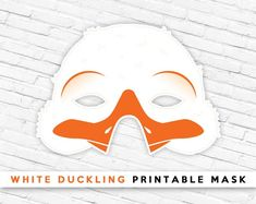 White Duckling Printable Mask | White Duck Mask # #printablemask #partymask #animalmask #cutemask #kids #duckmask #birdmask #ducklingmask #duckling #farmanimal #easterplayprops #eastermask #whiteduck Printable Halloween Masks, Printable Animal Masks, Duck Mask, Animal Themed Birthday Party, Easter Play, Bird Masks, Last Minute Costumes, Paper Mask, Baby Ducks