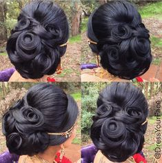 Dress Your Face is pure genius when it comes to makeup and hair! This updo is proof of that.