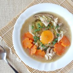 Filipino Chinese egg drop soup made of different mixed meats and vegetables