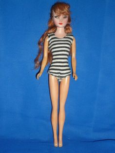 Vintage 1962 Suzette Barbie Clone Doll by Uneeda ~ Red Hair & B/W Swimsuit ~ TLC in Dolls & Bears, Dolls, Clothing & Accessories, Fashion, Character, Play Dolls | eBay