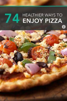 74 Smart Ways to Make Healthier Pizza (That Still Tastes Amazing) #healthy #pizza #recipes