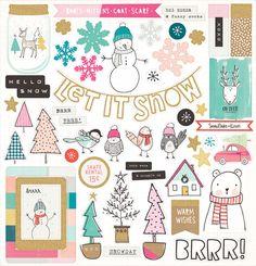 Crate Paper > Snow & Cocoa > Snow & Cocoa Chipboard Stickers…