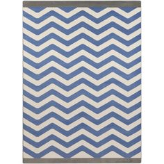 Found it at Wayfair - Bambino Blue/White Area Rug