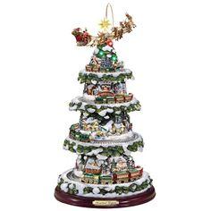 The Thomas Kinkade Animated Christmas Tree - Hammacher Schlemmer