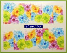 STICKERS ONGLES WATER DECAL (x10) - Nail art - Motif fleurs - Multicolore