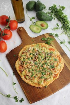 Pizza de aguacate