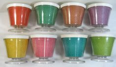 8 Vintage Burlap Straw Weave Raffia Ware Melmac Dessert Pedestal Cup Dish TiKi