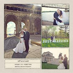 I love the 'Just Married' sign for this St Louis Wedding from BeautifulMess Photography.