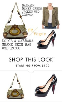 """""""SHOP - Re-Vogue"""" by ladymargaret ❤ liked on Polyvore featuring Balmain"""