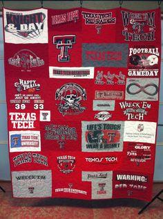 Texas Tech T-shirt Quilt