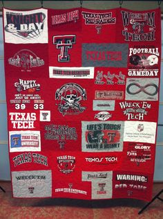 Texas Tech T-shirt Quilt  www.sheezabizzyquilter.etsy.com