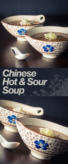 cantonese style hot and sour soup and sour soup thai hot and sour soup ...