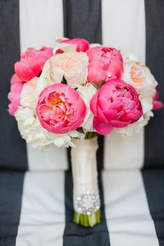 Peony, Rose and Hydrangea Bouquet | *Dolce Photography* | Theknot.com