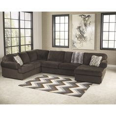 Signature Design Oversized Fabric Sectional Sofa | Overstock.com Shopping - The Best Deals on Sectional Sofas