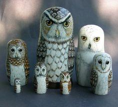 Nesting Doll Owls
