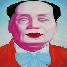 Chinese contemporary art by Zheng FengJie.  La figure la plus peinte dans l'art chinois depuis le siècle dernier. Le passage de l'art chinois du général au particulier, de l'individu.  de olo-art.com