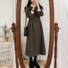 Shirt neck one piece ily awesome incredbly 20 outfits to look how to influence incredbly in 20s Fashion, Modest Fashion, Hijab Fashion, Korean Fashion, Fashion Outfits, Vintage Outfits, Classy Outfits, Stylish Outfits, Cute Outfits
