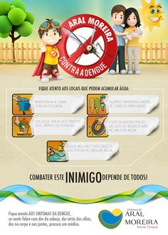 Campanha contra a Dengue no Behance Dengue, Infographic, Family Guy, Projects, Behance, Character, 3d, Empty Bottles, Environmental Education