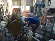 Working hard at UVE in LaMorra, Langhe