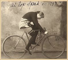 Tillie Anderson, 1897, she held the title of world champion until 1902, when women were banned from racing due to the perceived level of danger in the sport