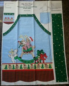 Patty Reed Designs- heavy cotton - Christmas APRON PANEL  / fabric / pattern-NEW #FabricTraditionsPattyReedDesigns