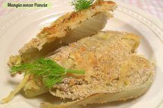 Finocchi gratinati croccanti, ricetta vegetariana Diabetic Recipes, Diet Recipes, Healthy Recipes, Vegetable Sides, Tex Mex, Soups And Stews, Food For Thought, Hummus, Italian Recipes