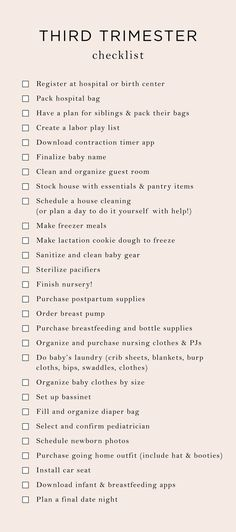 Everything On My Trimester To-Do List - The Mama Notes - Baby prep - Before Baby, After Baby, Mama Notes, 3. Trimester, 3rd Trimester Pregnancy, Baby Planning, Preparing For Baby, Everything Baby, Baby Time