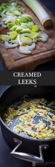 Creamed Leeks {NEW RECIPE} This quick and easy creamed leeks recipe is the perfect side dish for any roasted meat and a superb main meal choice for vegetarians.