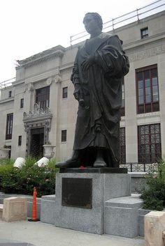 Christopher Columbus statue. City Hall Columbus Ohio