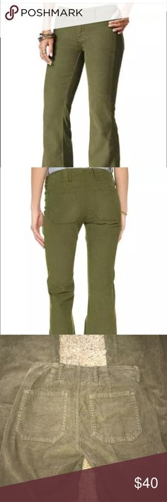 """Free People light military corduroy pants bell Free people Jolene flare corduroy pants brand new with tags  Light military color  Size 24 Inseam: 33"""", inseam on size 25 is 33.5"""" Free People Pants Boot Cut & Flare"""