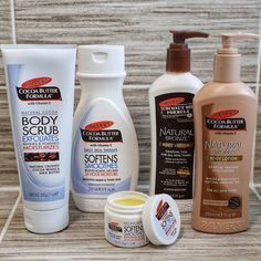 I am in LOVE with I can't believe I've never used these products before! My absolute favourite is the Body Scrub 😍 I literally… Gradual Tan, Beauty Blogs, Am In Love, Facial Cleansing, Body Lotions, Cocoa Butter, Body Scrub, Vitamin E, Travel Size Products