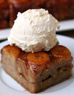 Upside down banana cake. You've Totally Been Making Banana Bread The Wrong Way Your Entire Life