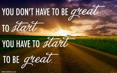 Starting is the hardest part! Just do it! :) #weightloss #motivation.