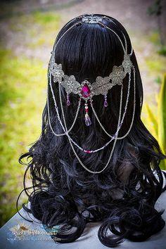 Headdresses Pagan Wicca Witch: Elvish Flower #Circlet.