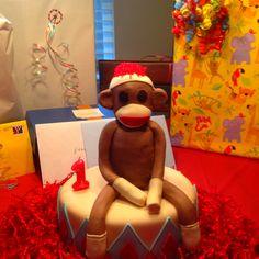 Sock Monkey Birthday Cake  Crazy Cakes of Austin, Tx