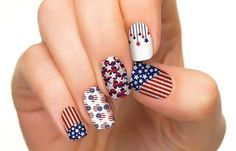 4th of July Nails in red white  blue. #nailart #nails #polish #red - For more nail looks or to share yours, go to bellashoot.com