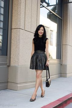 black and gold pouf skirt!