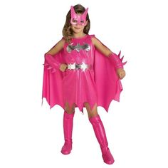 Is your girl ready to take on crime in Gotham? This pink Batgirl costume is the perfect outfit! This officially licensed Batgirl costume adds glamour to the traditional outfit by focusing on pink and silver colors. Included with this costume is the pink d Batgirl Halloween Costume, Batman Costumes, Halloween Costumes For Girls, Girl Costumes, Halloween Kids, Superhero Halloween, Holidays Halloween, Batman Superhero, Fun Costumes