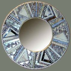 Barbara Wright at Arcata Artisans mosiac glass mirror