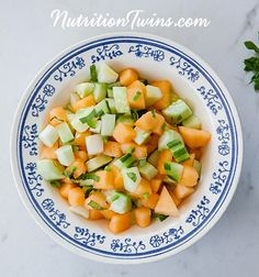 Crunchy Zesty Cucumber Cantaloupe Salad | Only 47 Calories | Sweet & Crunchy Refreshing | For Nutrition & Fitness Tips & RECIPES please SIGN UP for our FREE NEWSLETTER www.NutritionTwins.com