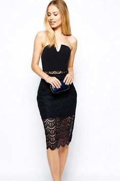 Vestido negro cocktail