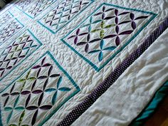 Reverse Cathedral Windows Quilt