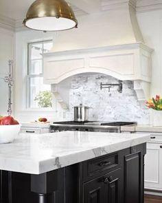 Image result for black white traditional kitchen