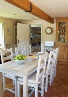 Distressed White Furniture On Pinterest Distressed Tables Dining Room Tables And Distressed