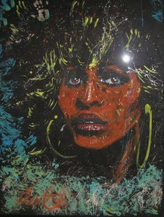 Tina Turner painting by Denny Dent