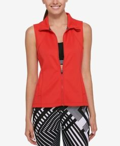 Tommy Hilfiger Sport Perforated Vest, Created for Macy's - White XS